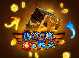 Klassische Variante des Automatenspiels Book of Ra Novoline